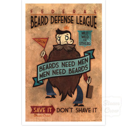 Beard Defense League Print