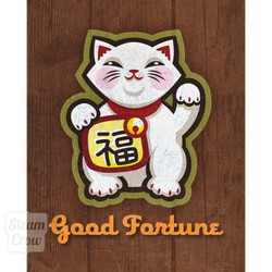 Good Fortune Cat 8x10