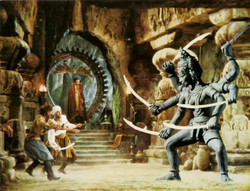 Inspired greatly by Ray Harryhausen's 1973 Golden Voyage of Sinbad.