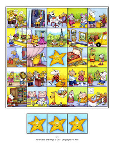 Verb Cards and Bingo for All Languages - Sample 1