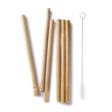 Bambu Bamboo Straw set with cleaning brush
