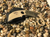 C.T.K. Compact Tactical Karambit lite,Tanto, sharpened front edge, tan finish