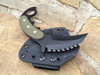 Combat Karambit, Tri-edge with aggressive top, Black Textured G-10 Handles