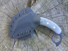 Combat Karambit, Black Plain Edge Black Canvas Micarta Handle