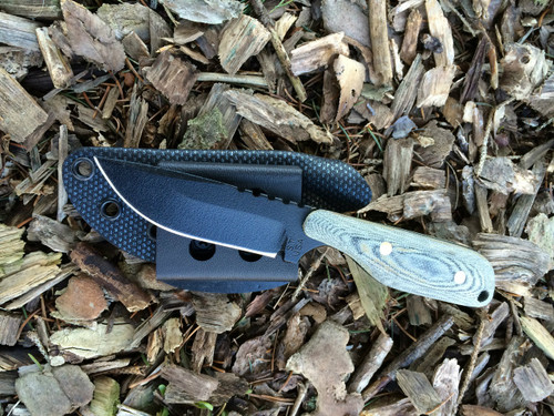 Wolf  Drop point, Black Canvas Micarta Handles, Plain Edge
