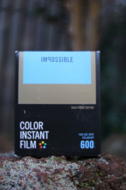 Impossible Project COLOR FILM FOR POLAROID 600 Type (Gold frame)