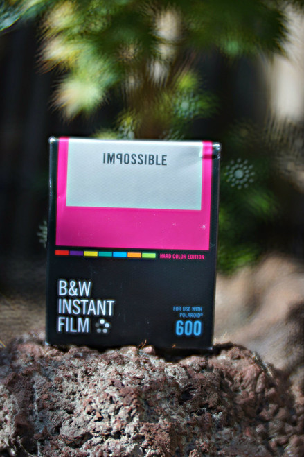 Impossible Project BLACK/WHITE FILM FOR POLAROID 600 Type (Hard Color frame)