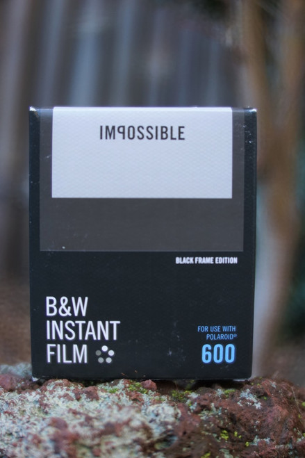 Impossible Project BLACK/WHITE FILM FOR POLAROID 600 Type (Black frame)
