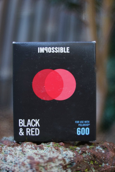 Impossible Project BLACK & RED FILM FOR POLAROID 600 Type Duochrome