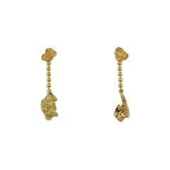 14KY ALASKA GOLD NUGGET DANGLE Earring