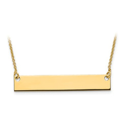 Gold Plated/SS Medium Polished Blank Bar With Chain