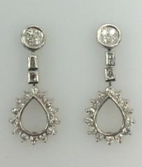 14 Karat White Diamond Earrings 1.24 CTW (I1 G/H Diamonds)