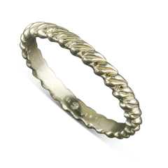 14 Karat White Gold Leaf Stack-able Ring Size 6.25