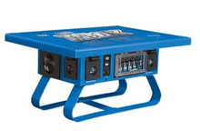Voltec 09-00675 Locking Temporary Power Box with 6 GFCI, 50 Amp, Blue