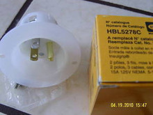5278C , HBL5278C 15A 125V MALE EDISON INLET , HUBBELL