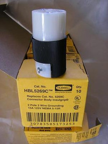 HBL5269C, 5269C  15A 125V U/GROUND CONNECTOR {HUBBELL}