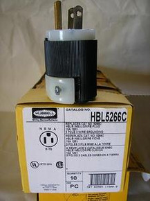 5266C, HBL5266C  15A 125V U/GROUND PLUG {HUBBELL}