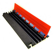"EG3125-36 Elasco Guards 3 Channel 1-1/4"" Heavy Duty Cable Guard, Orange/Black"