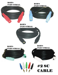 25 FT  #2 - 100 AMP 600V TYPE SC CAM LOCK CORD SET OF {5}