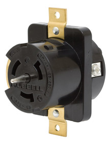 Hubbell CS6369L 50A 125/250V 3 Pole, 4 Wire, Single Phase Receptacle