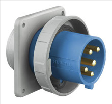 Hubbell HBL560B9R 60A 120/208V 3PH REVERSED SERVICE Pin and Sleeve Inlet Receptacle
