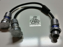 "APJ3485, APR3465,  ""NEW ITEM ""  30A 600V  {STYLE 2 } HEAVY DUTY ""Y"" SPLITTER  ADAPTER(8400-3485-3465"