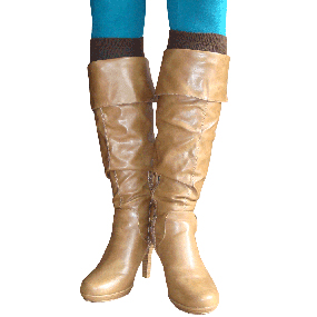 Solid Brown Boot Socks