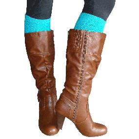 Solid Teal boot socks