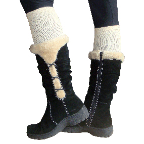 tan boot socks