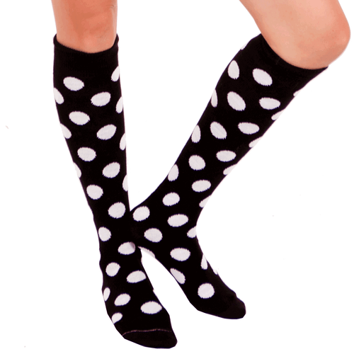 Black polka dot socks