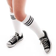 White/Black Tube Socks