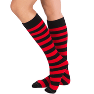 black and red socks