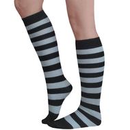 black and gray socks