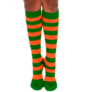 orange/green socks