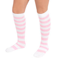 white/pink socks