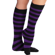 black and purple high socks