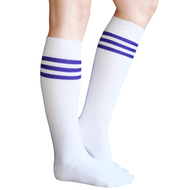 white purple tube knee socks