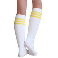 white yellow tube socks