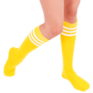 yellow tube knee high socks
