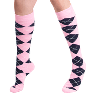 pink and navy socks