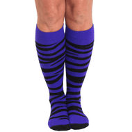 purple zebra print socks