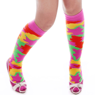neon army camo socks