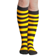 black and gold striped knee high socks