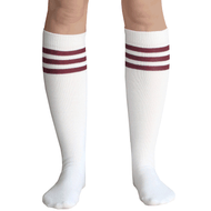 maroon striped socks