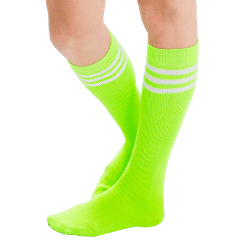 neon green tube socks