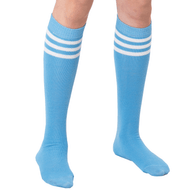 light blue skater socks