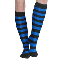 black and royal blue socks