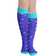 purple teal star socks