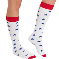 patriotic star socks