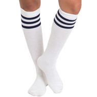 navy blue tube style knee socks